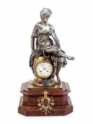 Napoleon III Gilt and Silvered Bronze and Rouge