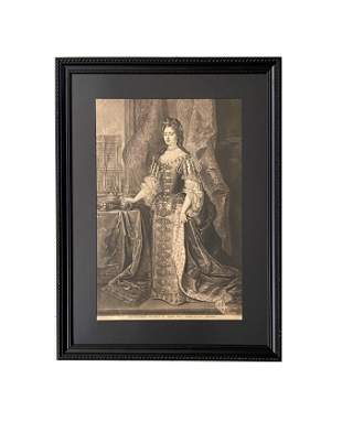 "18th Century Print ""Serenysima Maria D. G. Angl: Scot:"
