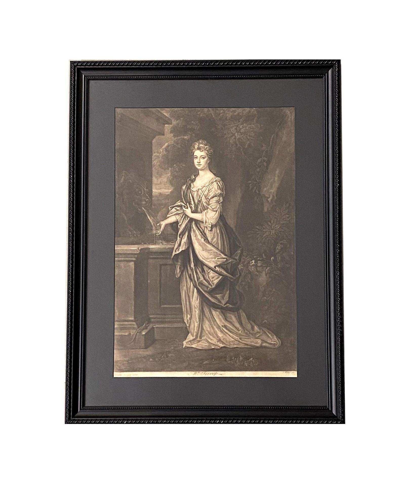 "18th Century Print ""Mrs Scroop"""