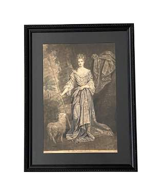 "18th Century Print ""Hon. Lady Midelton"""