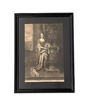 """18th Century Print """"Her Grace The Dutches Of L. Albans"""""""