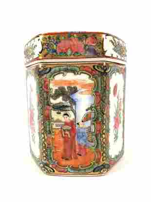 19th C. Chinese Export Rose Medallion Box