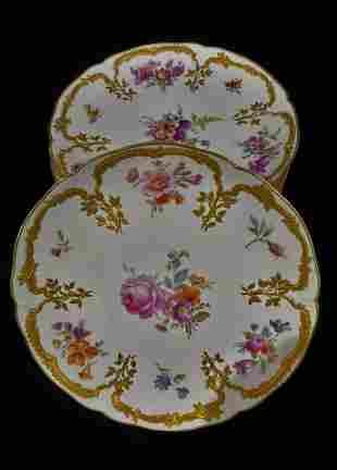 Set of 8 KPM German Hand Painted Porcelain Plates