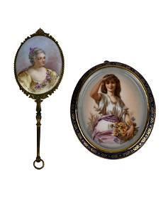 Two Porcelains Portrait Pieces