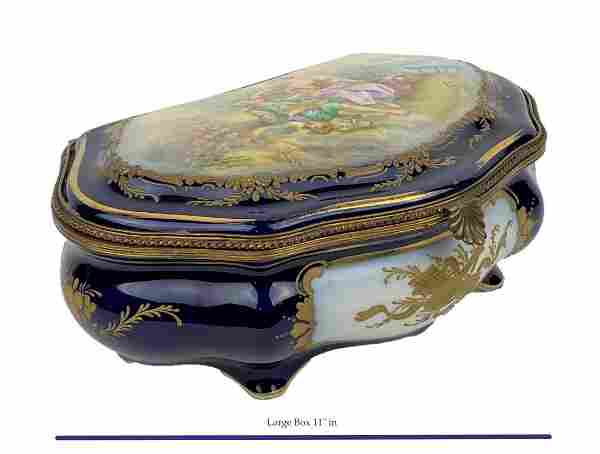 Antique 19th Century Large French Sevres Box