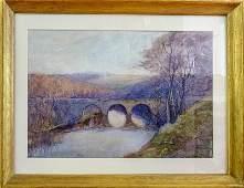 Birge Harrison - Untitled (landscape with bridge)