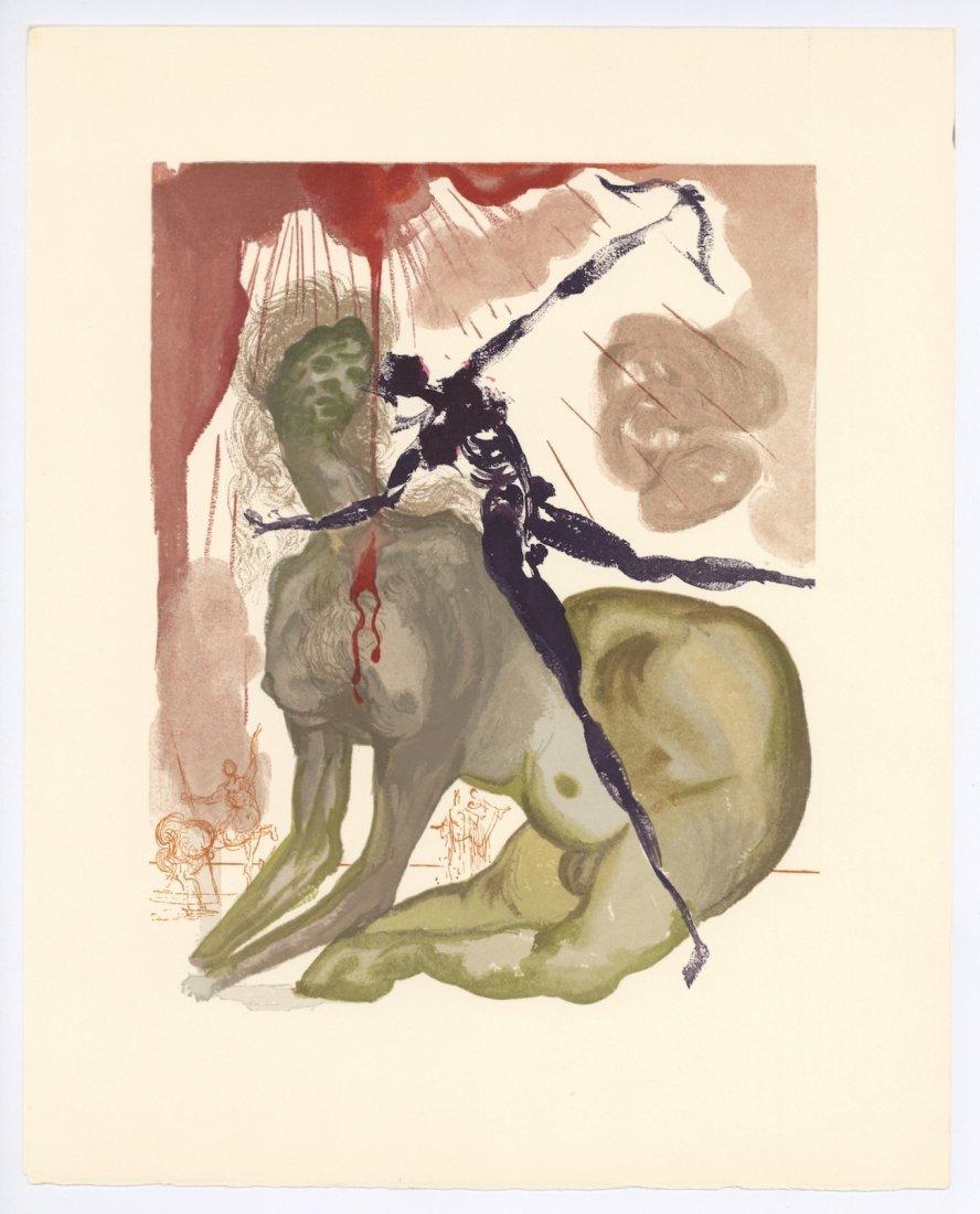 "Salvador Dali woodblock engraving \""The Minotaur\"""