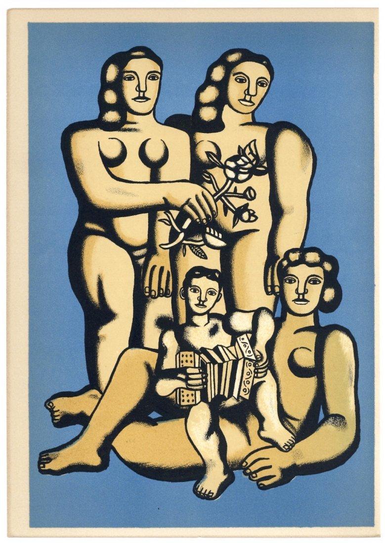 """Fernand Leger lithograph \""""Les trois soeurs\"""""""