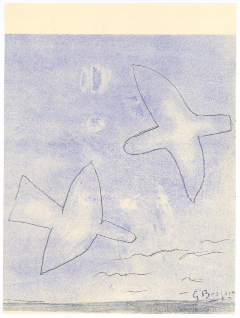 """Georges Braque \""""Oiseaux\"""" pochoir, 1958"""
