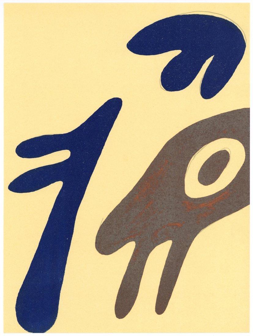 Jean Arp original lithograph, 1962