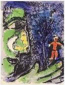 """Marc Chagall lithograph """"Le Profil et l'enfant rouge"""""""