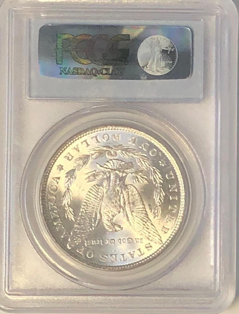 1887 PCGS MS63 Morgan Silver Dollar - 2