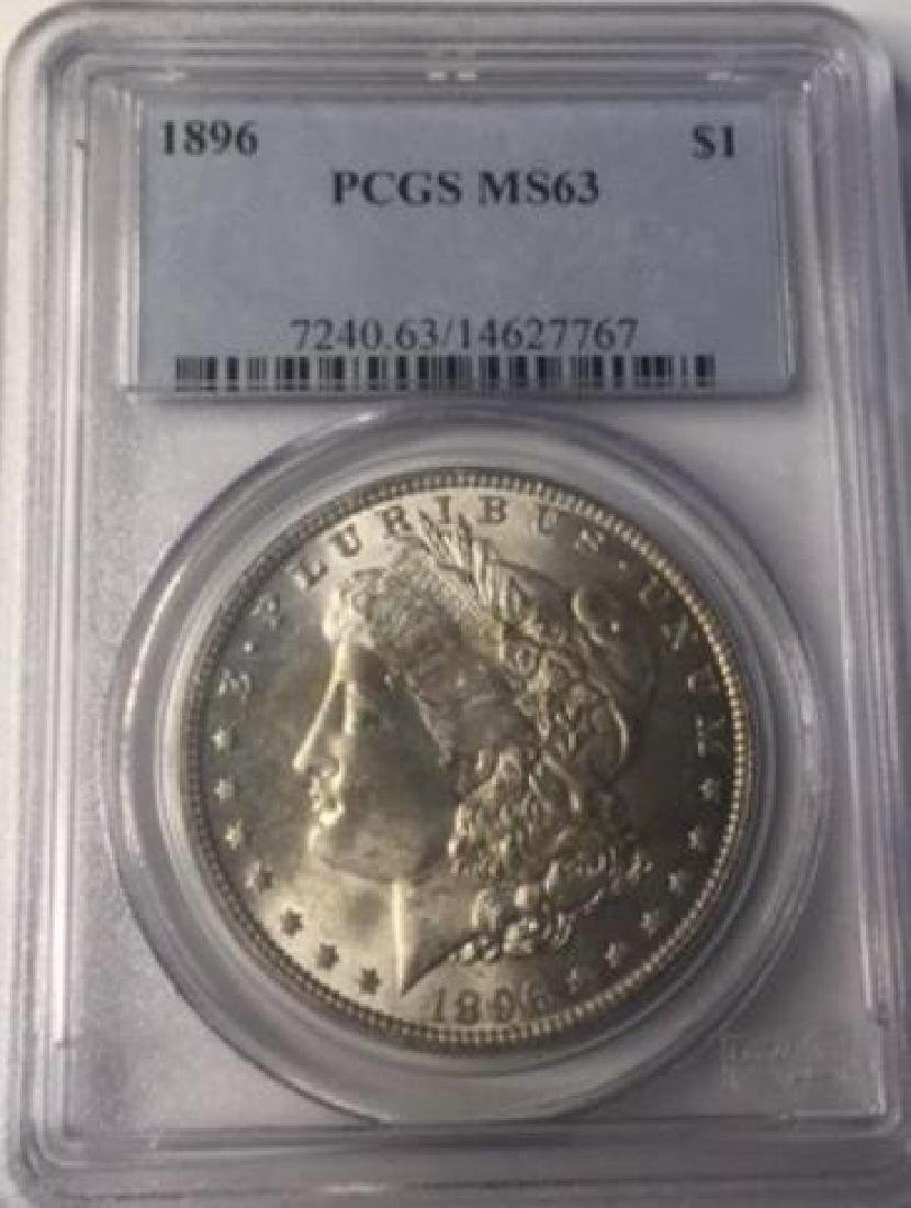 1896 PCGS MS63 $1 Morgan Silver Dollar