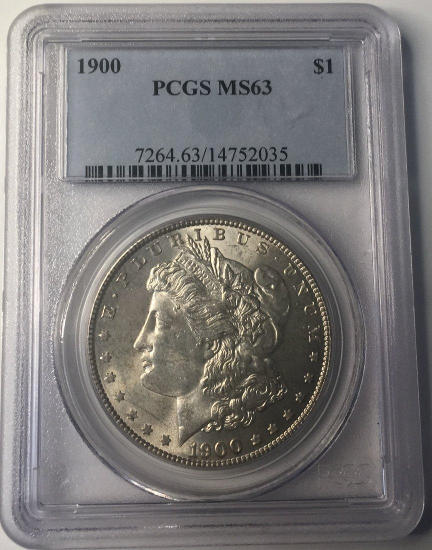 1900 PCGS MS63 Morgan Silver Dollar