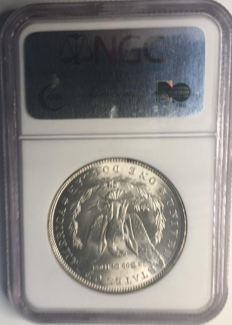 1887 NGC MS63 $1 Morgan Silver Dollar - 2
