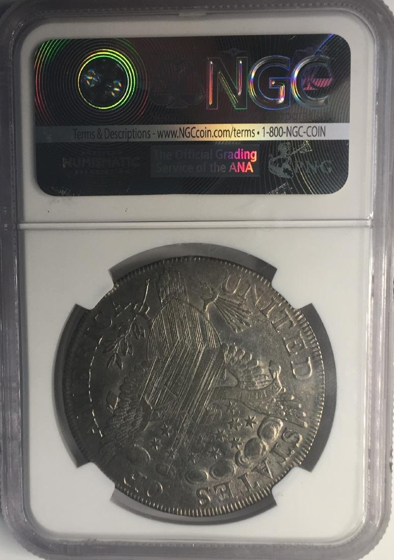 1798 NGC Draped Bust Flowing Hair Large Eagle $1 XF40 - 2