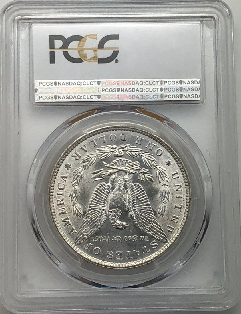 1887 PCGS MS64 $1 Morgan Silver Dollar - 2