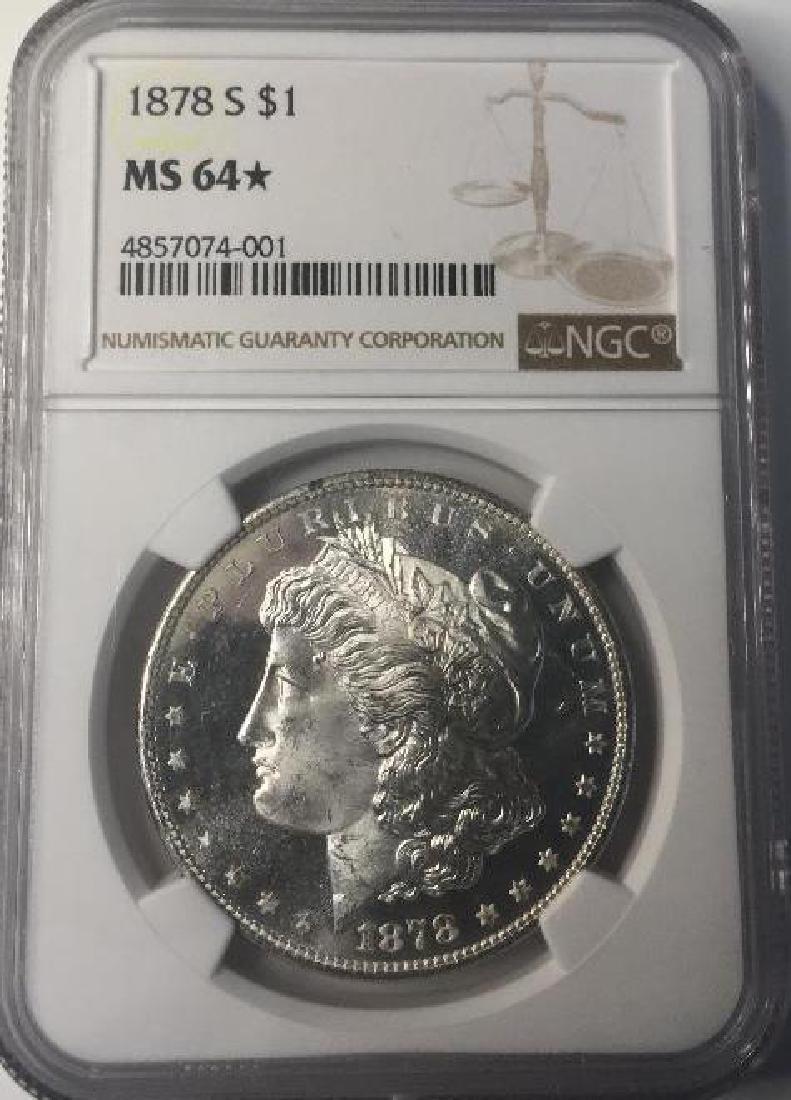 1878-S NGC MS64 $1 Morgan Silver Dollar
