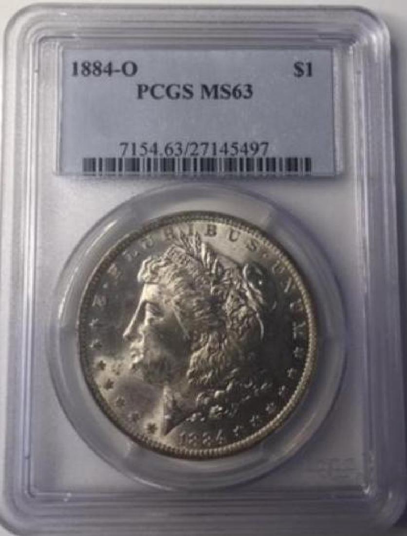 1884-O PCGS MS63 $1 Morgan Silver Dollar
