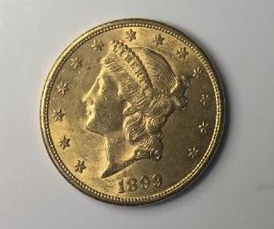 1899 $20 Liberty Head  Eagle Gold Bullion coin