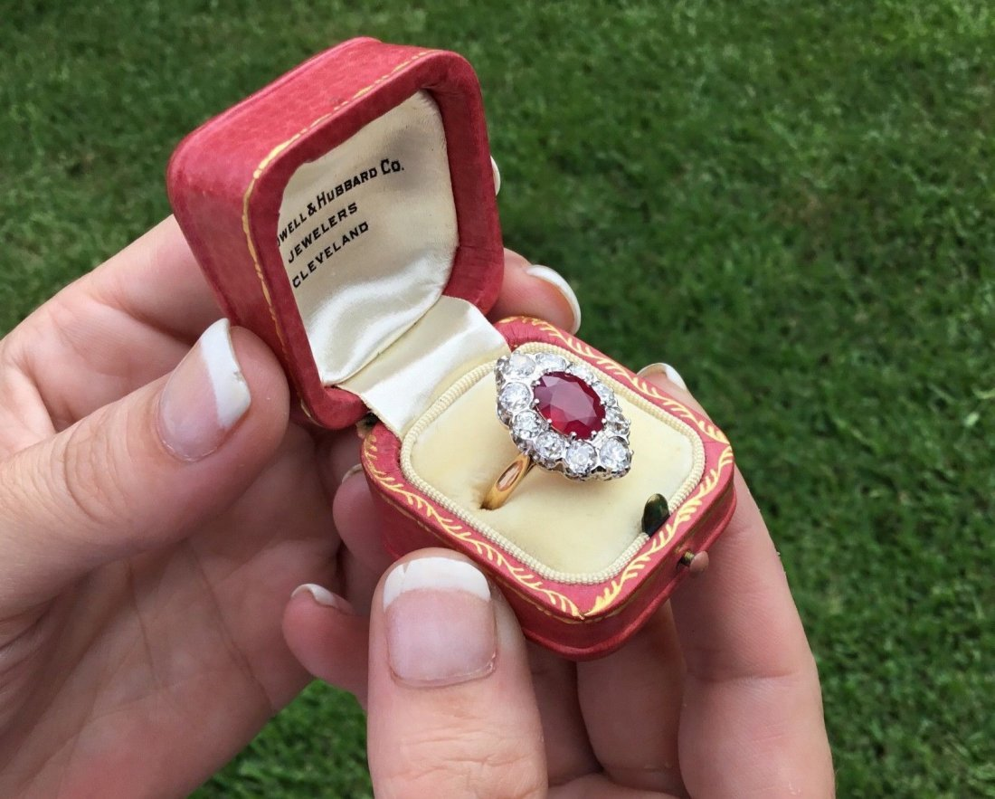 Art Deco French 18K Plat 3.48 CTW Ruby & Diamond Ring - 4