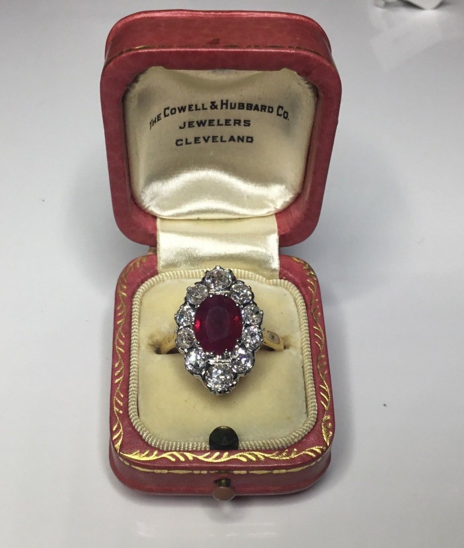 Art Deco French 18K Plat 3.48 CTW Ruby & Diamond Ring - 6