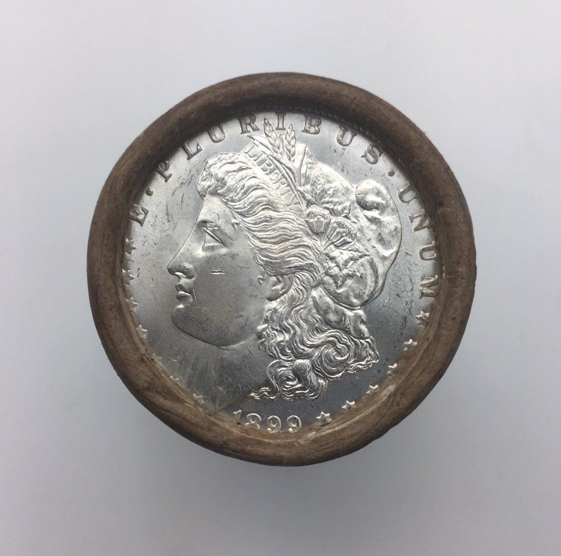 $20 Silver Dollar Roll 1899 and CC-Mint Morgan Dollar