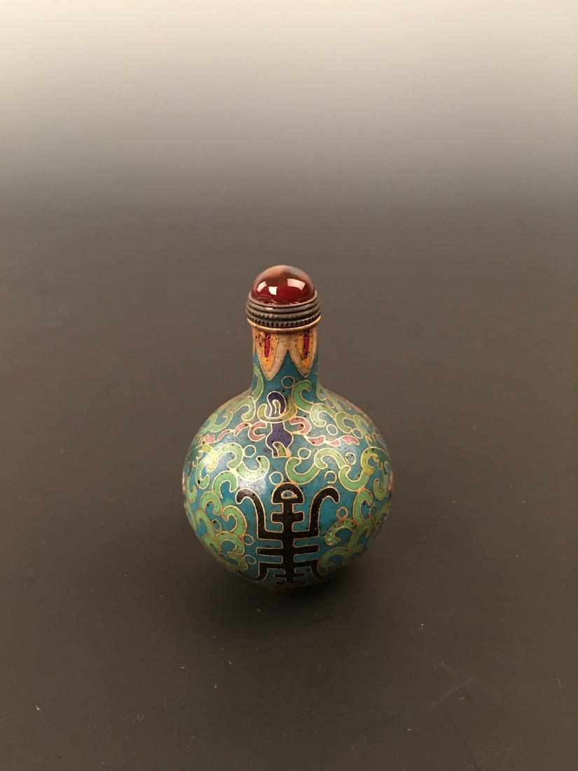 Chinese Cloisonne Enamel Snuff Bottle - 2