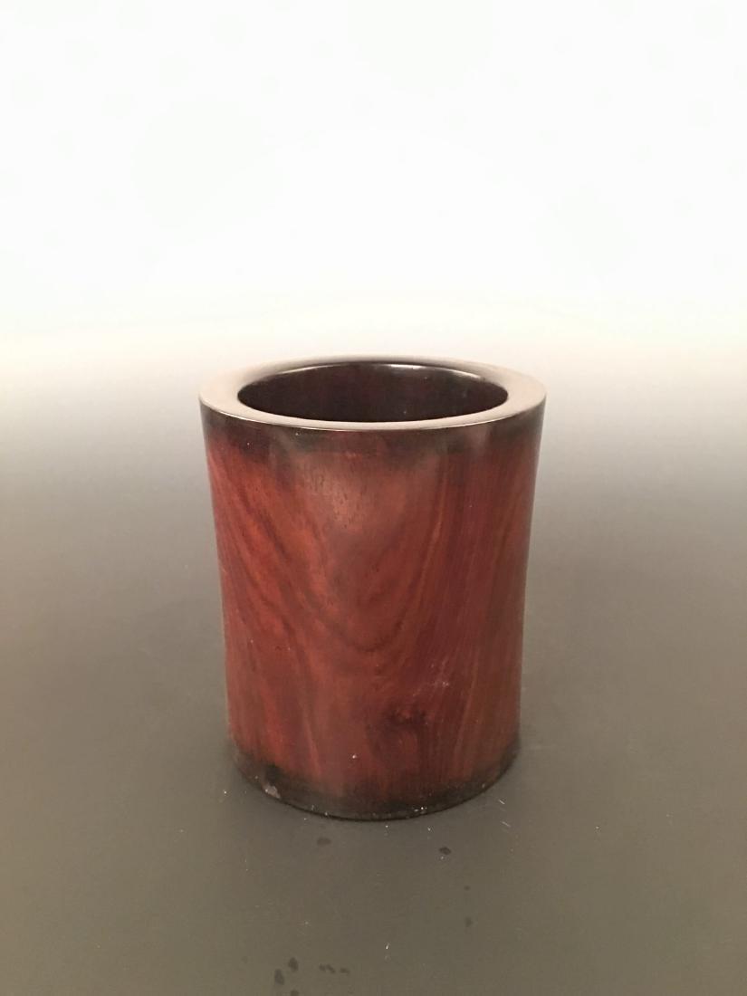 Chinese Rose-wood Brush Pot