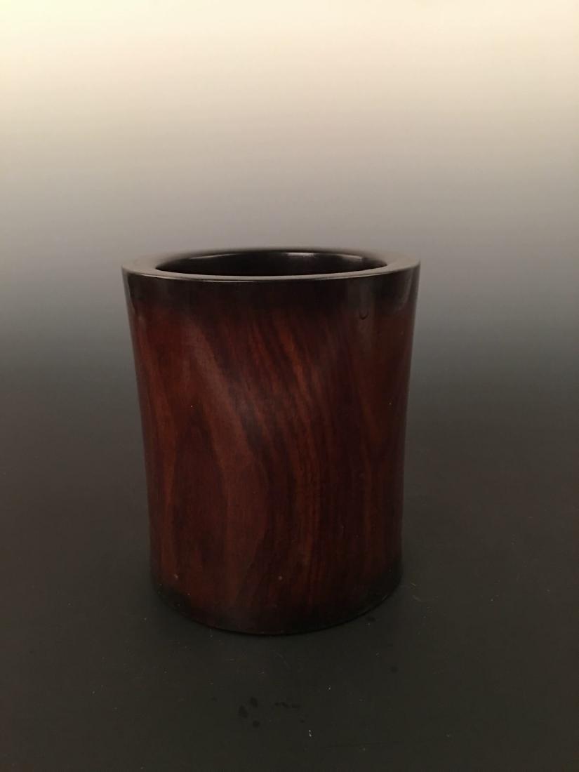 Chinese Rose-wood Brush Pot - 4