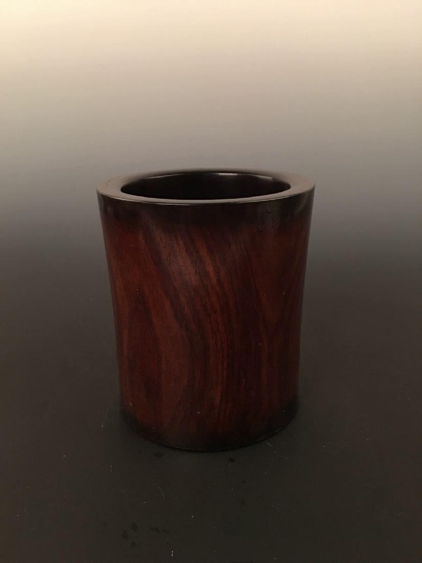 Chinese Rose-wood Brush Pot - 7