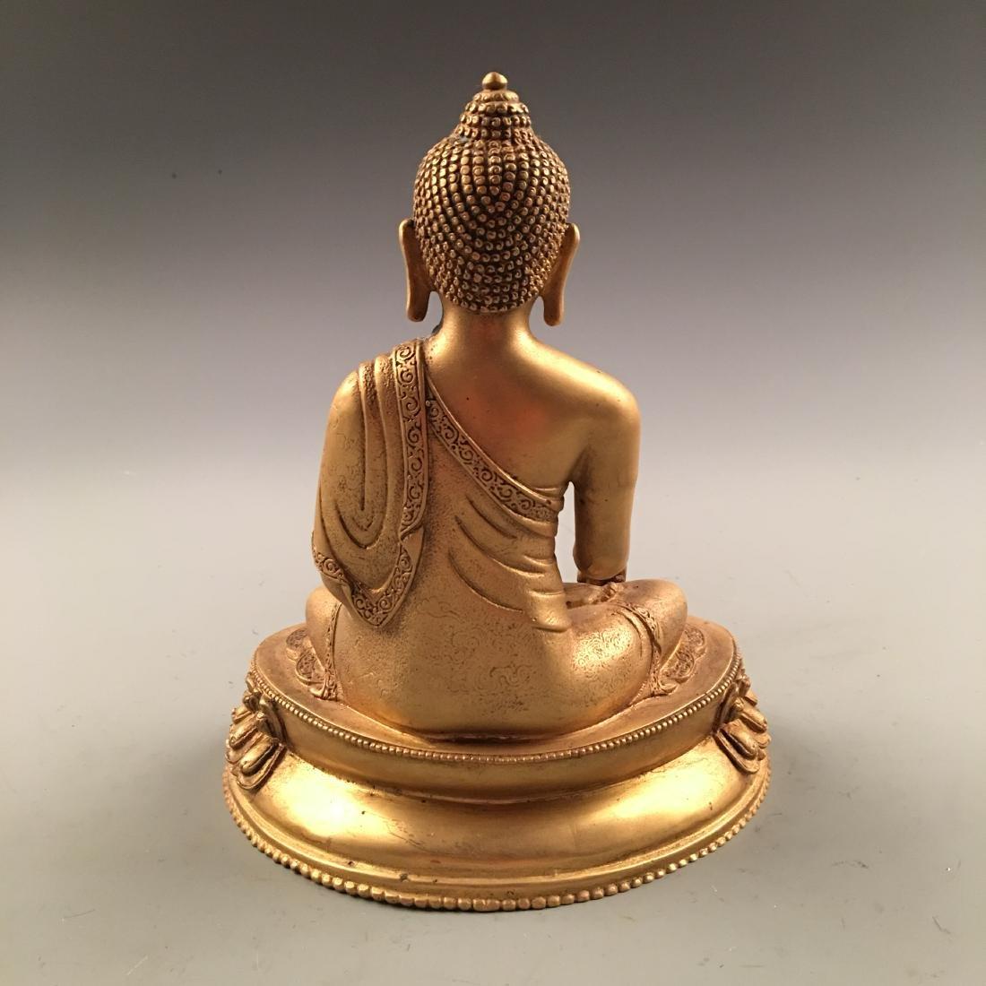 Chinese Gilt Bronze Buddha Statue - 3