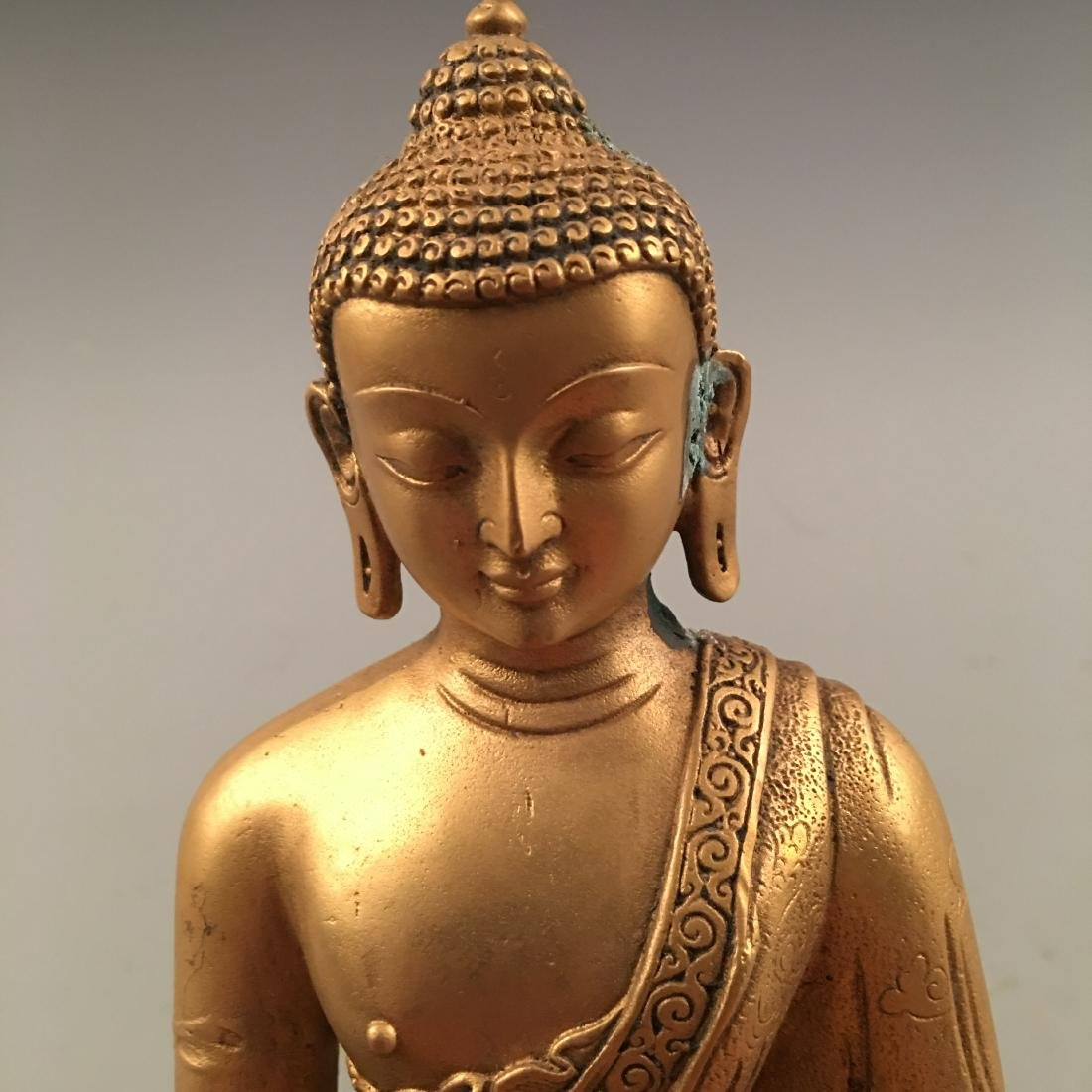 Chinese Gilt Bronze Buddha Statue - 7