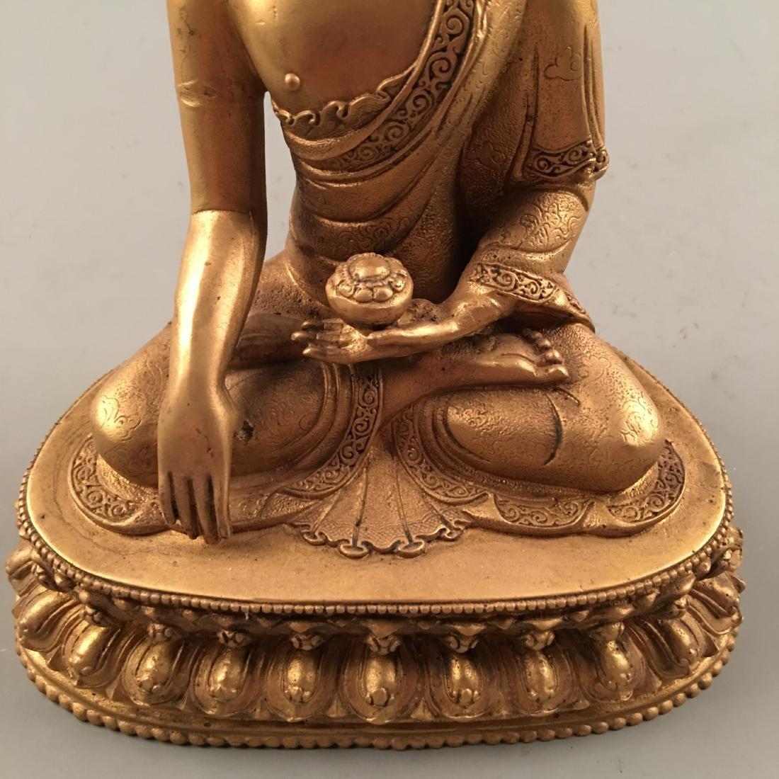 Chinese Gilt Bronze Buddha Statue - 8