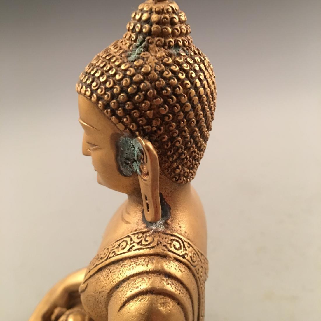 Chinese Gilt Bronze Buddha Statue - 9