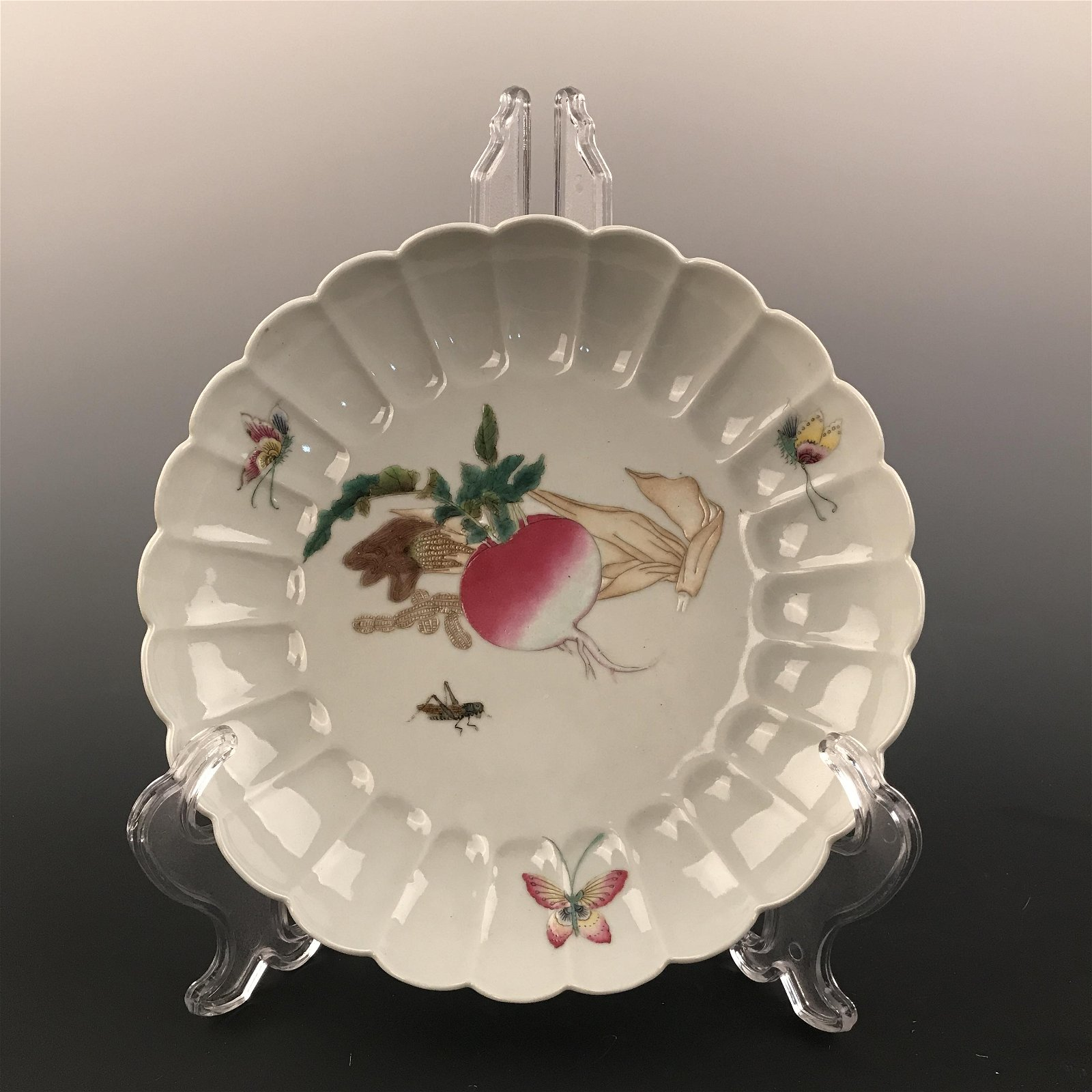 Chinese Famille Rose Plate, Yongzheng Mark