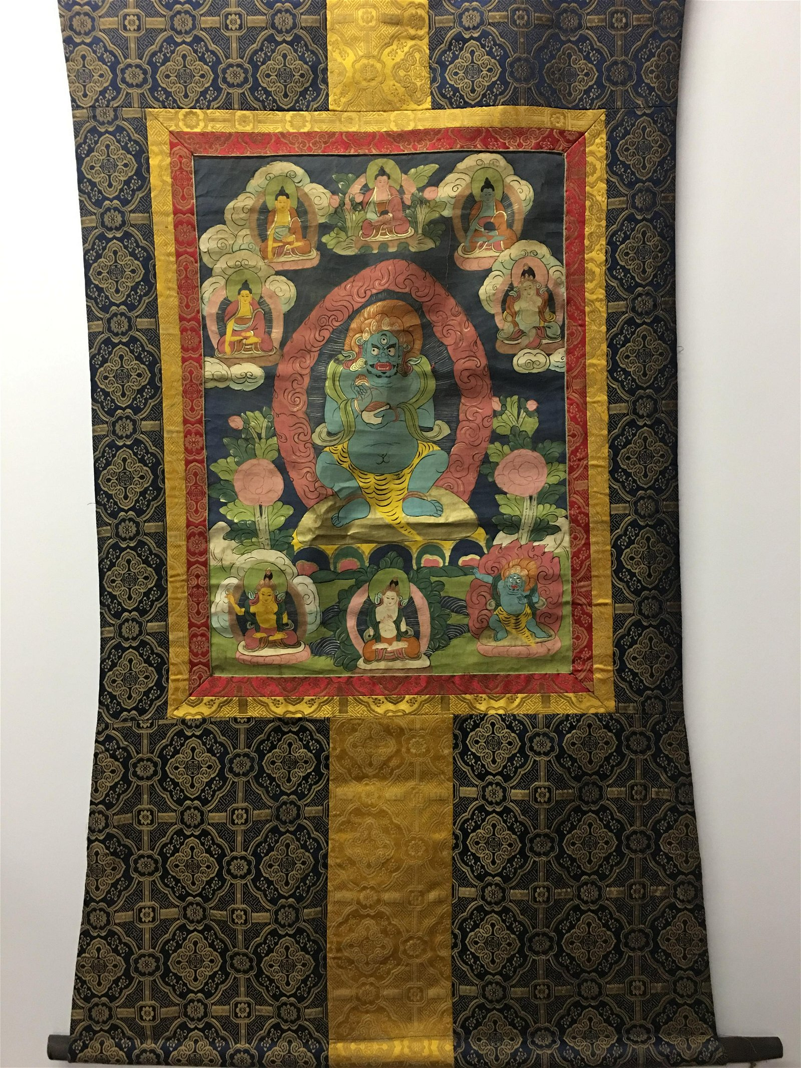Chinese Hanging Scroll Thangka and Lineage