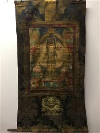 Chinese Hanging Scroll Thangka of Avalokitesvara