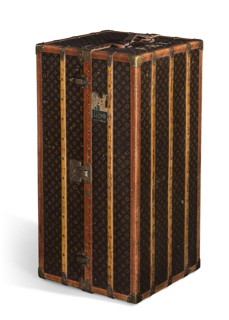 A Louis Vuitton wardrobe trunk first half 20th century