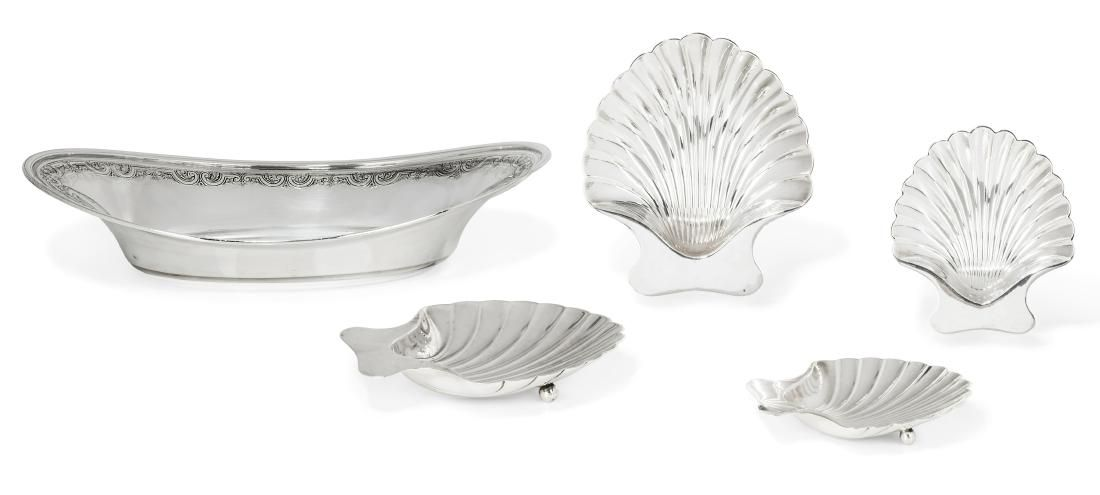 A five piece collection of American sterling silver