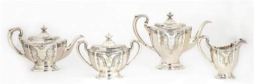 A Dominick & Haff silver tea and coffee set