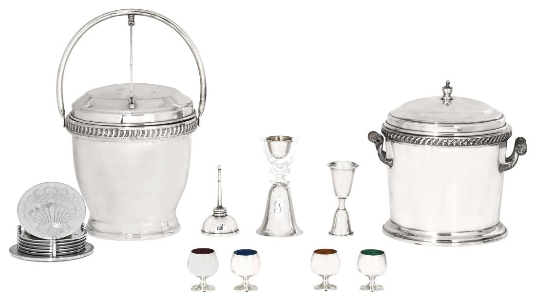 Group of silver, metalware cocktail accessories - 2