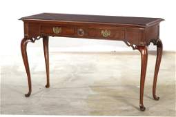 Queen Anne style mahogany side table, Thomasville