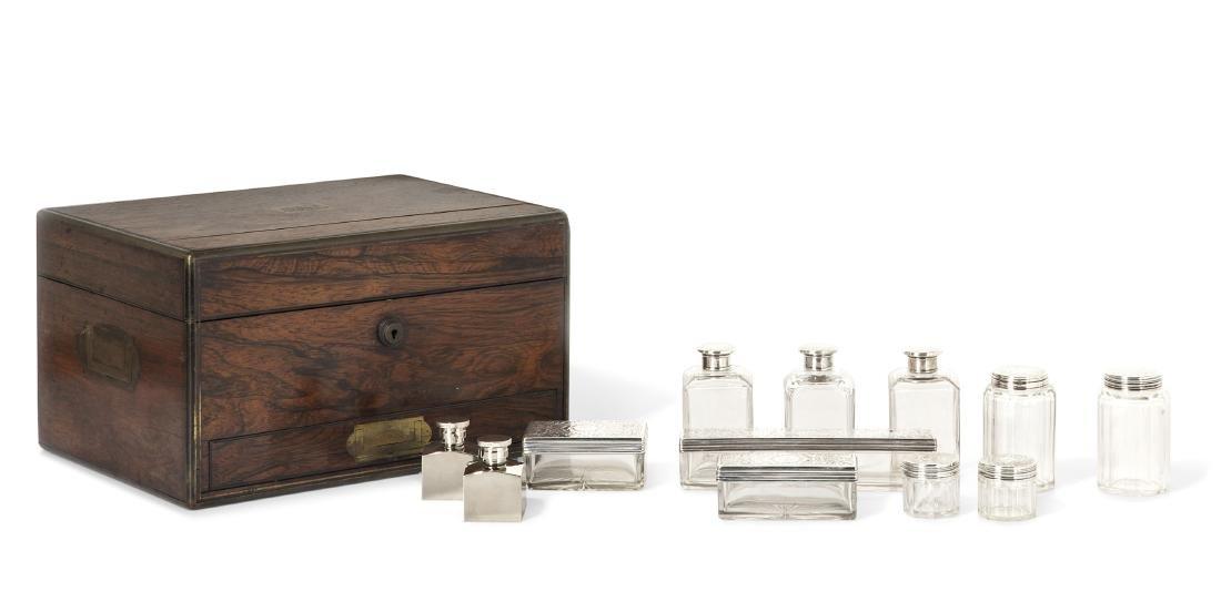 A Victorian traveling vanity case, Asprey