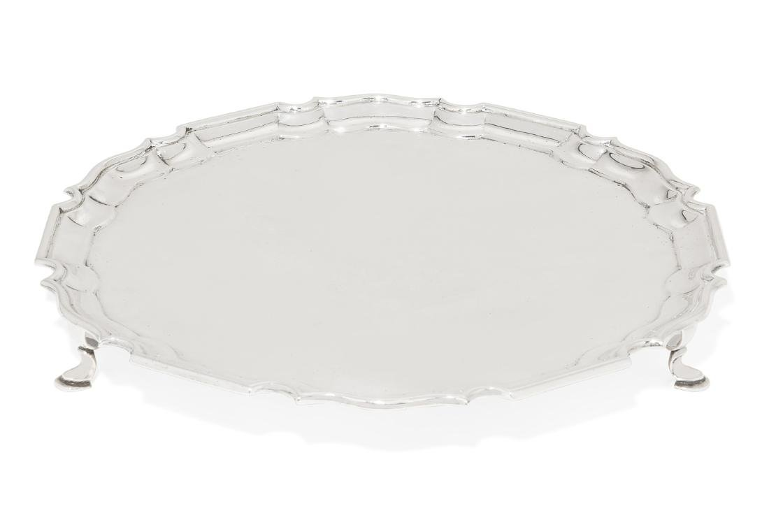 An Edward VII silver salver, Crichton Brothers