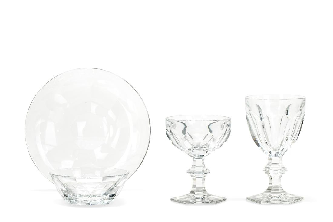 A suite of Baccarat Harcourt glass table ware