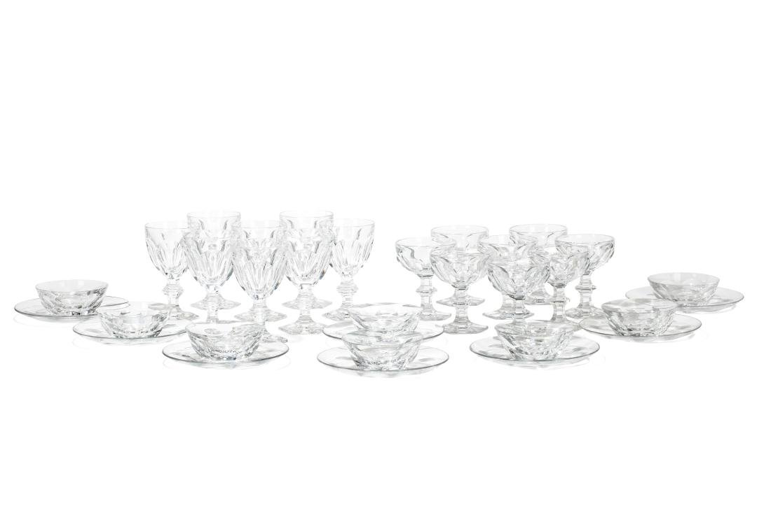 A suite of Baccarat Harcourt glass table ware - 2