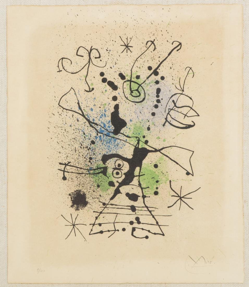 Joan Miro Abstract Composition lithograph