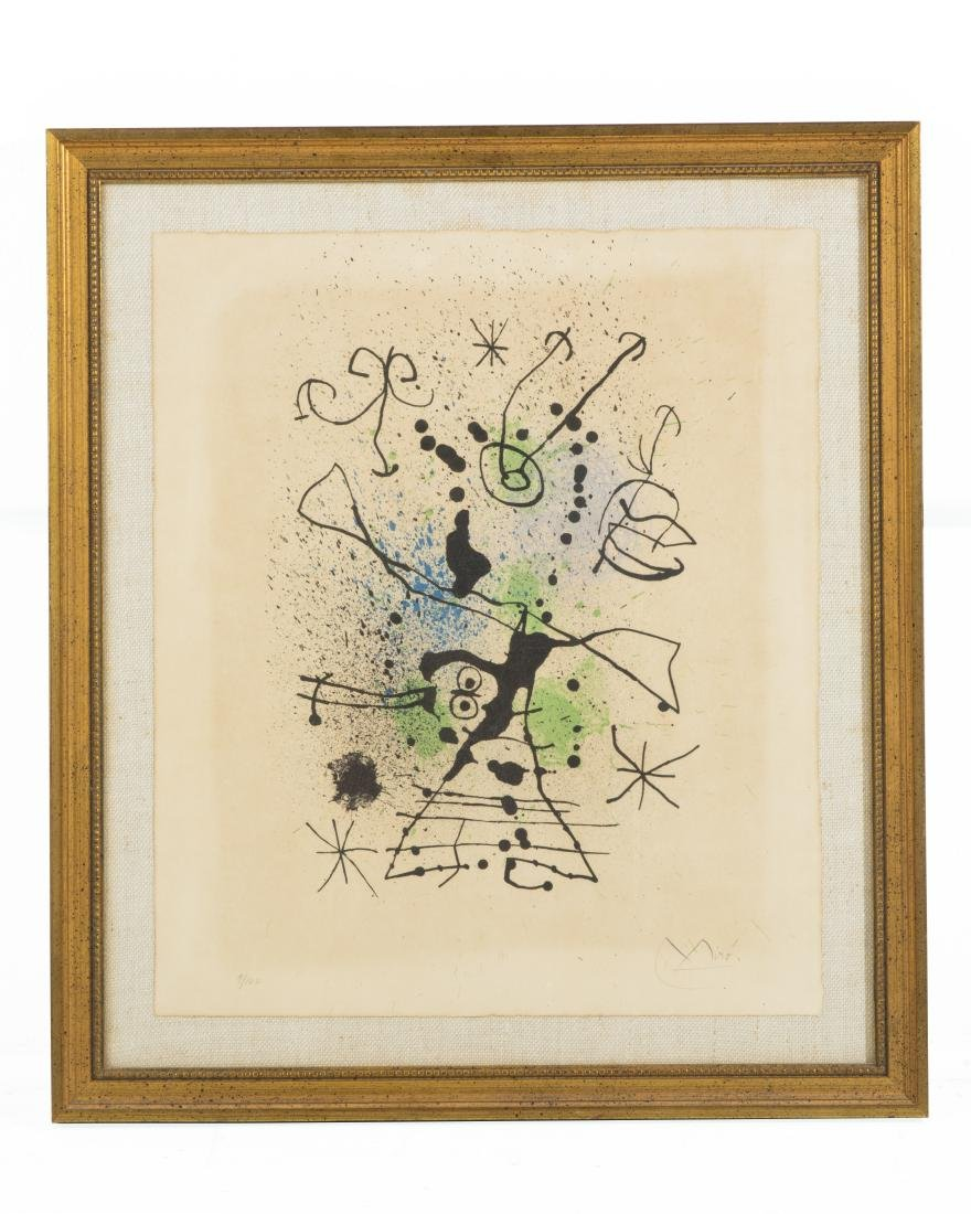 Joan Miro Abstract Composition lithograph - 2