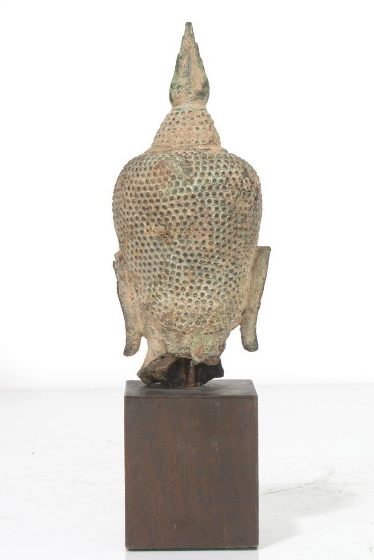 Thai copper alloy Buddha head, 15th/16th century - 2